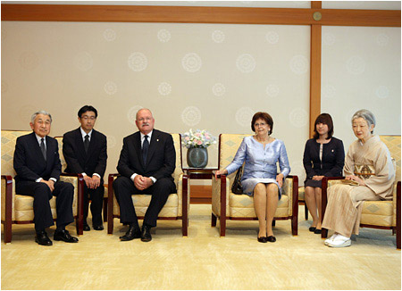 Meeting with the Japanese Emperor