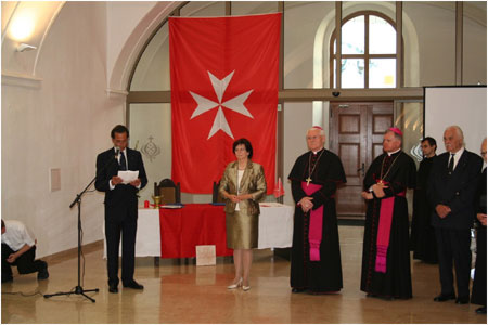 Silvia Ga�parovi�ov� attending the Sovereign Order of the Knights of Malta charity event