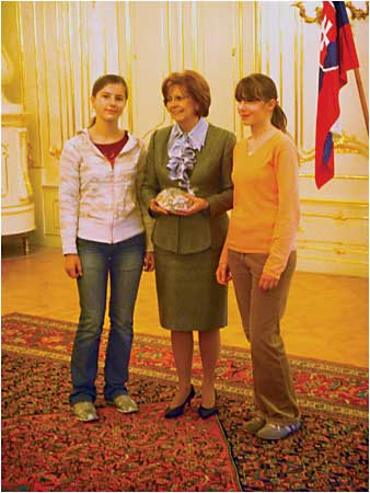 Children of slovak compatriots in Poland visited the Presidential Palace