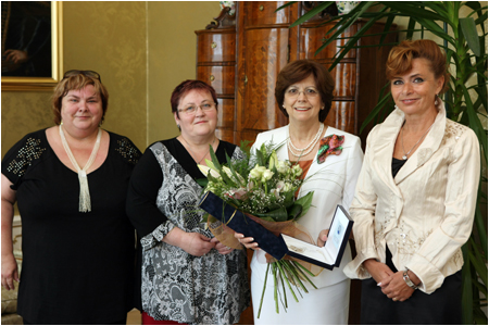 Mrs. Ga�parovi�ov� is the honorary member of the Slovak Chamber of Nurses and Midwives
