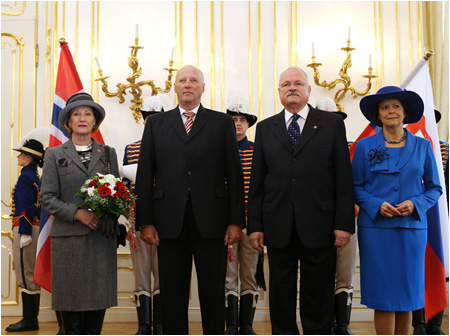 Norwegian royal couple at official visit in Slovakia