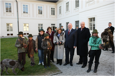 Presidential couple hosted King Harald V. and Queen Sonja in Bansk� �tiavnica