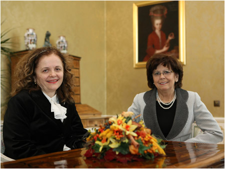 Mrs. Ga�parovi�ov� adopted spouses of new ambassadors to Slovakia