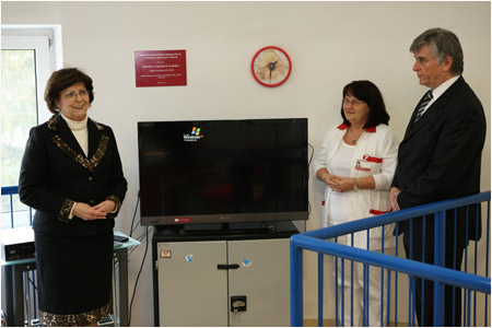 First Lady visited the Department of Pediatric Pneumology and Phtiseology in Bratislava