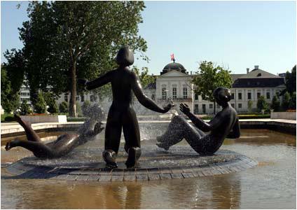 Pohľad na fontánu