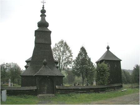 A little wooden church in Ladomír