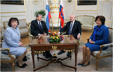 The Slovenian President on an official visit to the Slovak Republic