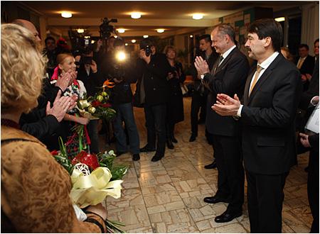 Prezidenti SR a Maďarska na spoločnej návšteve dvoch gymnázií v Galante
