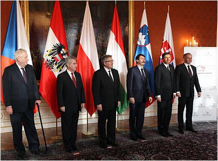 Andrej Kiska na summite V4, Rakúska a Slovinska v Prahe
