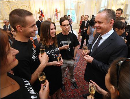 Prezident SR Andrej Kiska navštívil Spojenú školu v Poprade
