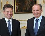 Prezident Andrej Kiska prijal ministra zahraničných vecí Miroslava Lajčáka