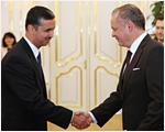 Noví veľvyslanci odovzdali prezidentovi poverovacie listiny