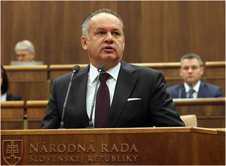 Vystúpenie prezidenta Andreja Kisku pred poslancami Národnej rady