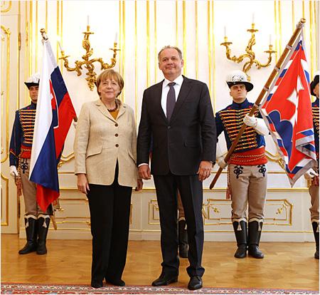 Prezident Kiska prijal nemeckú spolkovú kancelárku Angelu Merkelovú