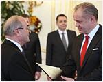 Prezident SR vymenoval guvernéra Národnej banky Slovenska